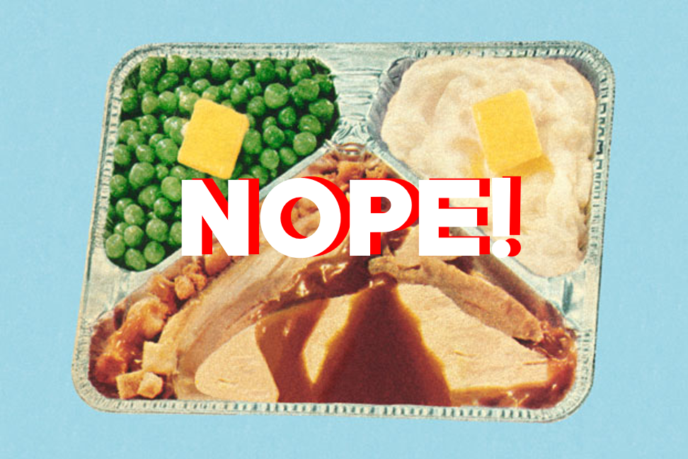 thanksgiving no tv dinner